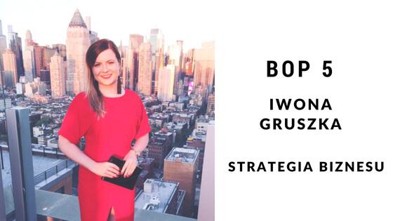 Iwona Gruszka- Czym jest strategia biznesu i jak ją stworzyć [BOP5]