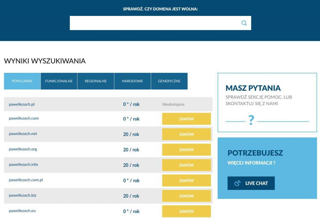 Jak zrobić stronę internetową- sprawdzenie czy domena jest wolna